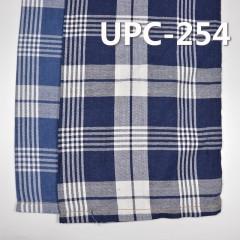 """全棉色织格子布 136g/m2 57/58"""" 100%棉学院风靛蓝色织格仔布 UPC-254"""