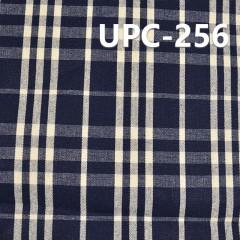 """全棉色织格子布 8.5OZ 58.5"""" 全棉学院风INDIGO色织格子 UPC-256"""