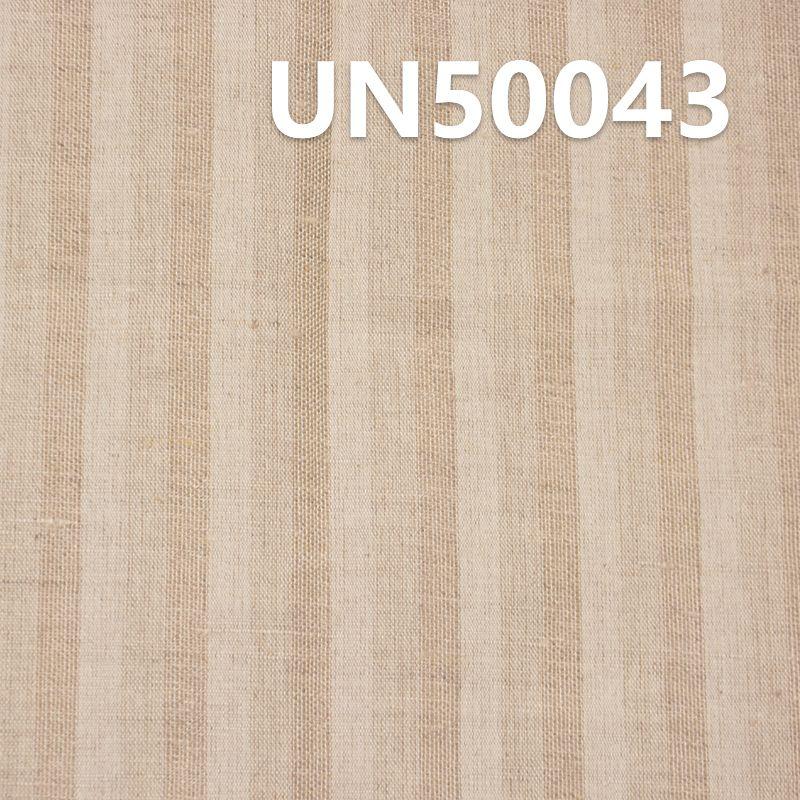 """亞麻棉條子麻布 114g/m2 55/56"""" UN50043"""