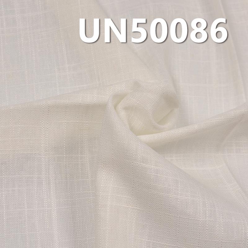 """粘亚麻交织布 175g/m2 54/55"""" 85.9%粘胶14.1%亚麻粘亚麻交织布 UN50086"""