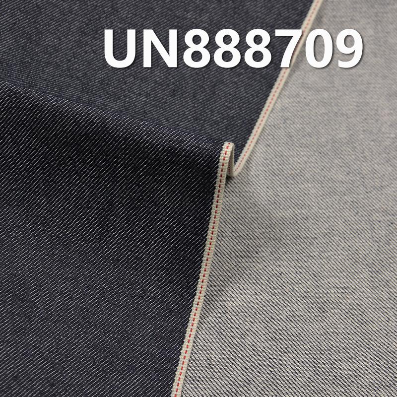 98.9%棉1.1%弹豎竹右斜紅邊牛仔布 30/31