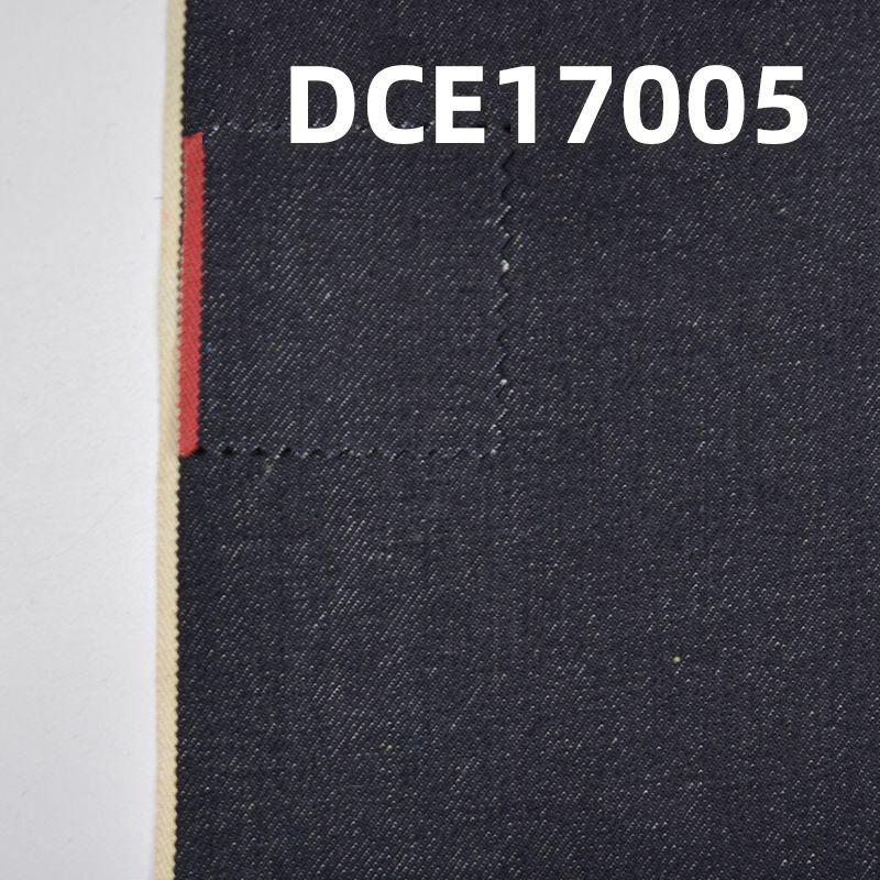 """全棉右斜红边牛仔布 30/31"""" 14.4oz DCE17005"""