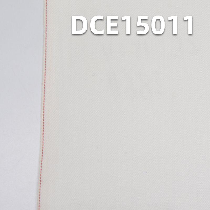 98%棉2%氨纶 棉弹力破卡/网纹红边牛仔布 32/33
